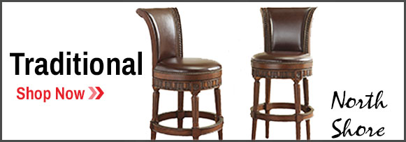 Traditional Billiards Style Bar Stools