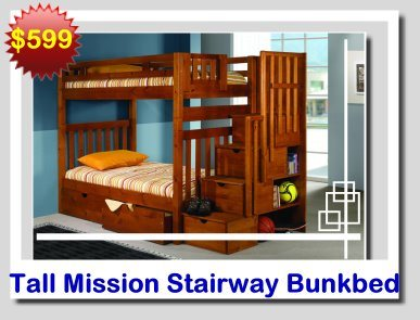 Donco Tall Stairway Bunkbed 200